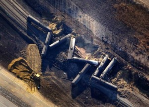 The CN Rail crash at Gainford, Alberta on Oct 19, 2013