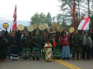 Mi'kmaq-led protest in New Brunswick against gas fracking