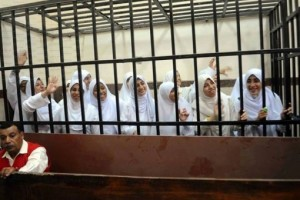 21 female anti-coup protesters sentenced in Alexandria, photo Counterpunch