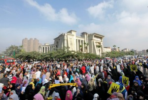 Trial of Mohamed Morsi--One of many protests against the trial, on Nov 4, 2013