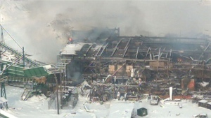 Babine Forest Products explosion, Jan 20, 2012, photo on CBC