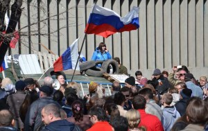 Rally in Lugansk, Ukraine in early April 2014  in support of an autonomy referendum, photo Yuri Streltsov, RIA Novosti