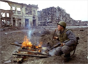 In 1994, Russia went to war with Islamic-inspired military forces in neighbouring Chechnya. The capital city of Grozny was flattened.