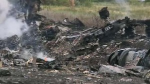 Malaysia Airlines Flight MH 17 crash site, screenshot image frmo The Guardian