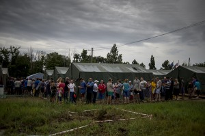Refugees in Rostov, Russia displaced by the Ukraine government's war against its people, photo RIA Novosti