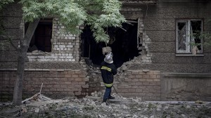 Shelling of Luhansk July 18,, 2014, photo RIA Novosti