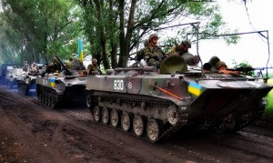 Ukraine army in Kramatorsk, photo Ukraine gov't
