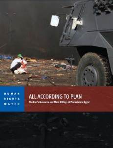 HRW report Rab'a, Aug 2014