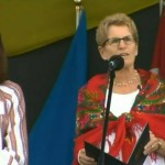 Ontario Premier Kathleen Wynne voices support to Ukraine war  at Independence Day event in Toronto Aug 23, 2014, CTV News screenshot