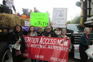 Abortion rights action in New Brunswick on Sept 20, 2014
