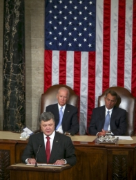 Petro Poroshenko speaks to US Congress on Sept 18, 2014