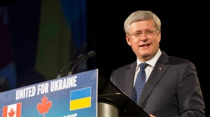 Prime Minister Harper at Toronto gala for Ukraine Sept 12, 2014