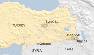 Map Turkey-Syria-Iraq