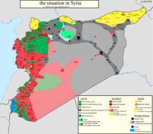Map of Syria, by Thomas van Linge, Sept 2014