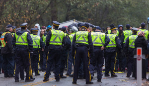 Burnaby Mountain solidarity protest on Nov 20, 2014, photo by Mark Klotz