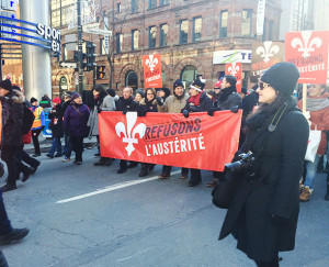 Anti-austerity march in Montreal Nov 29, 2014, photo by Cece Zhang, McGill Tribune