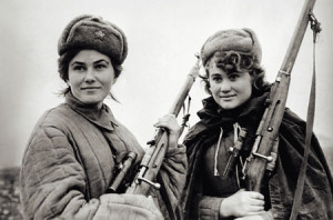 Anti-fascist partisan fighters in Soviet Ukraine during WW2, image from Wikipedia