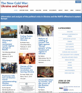 Website 'The New Cold War, Ukraine and beyond'