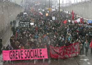 Anti-austerity march in Montreal, March 21, 2015, photo by Canadian Press