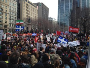 Student-led anti-austerity march in Montreal April 2, 2015, photo by Ethan Cox on Twitter