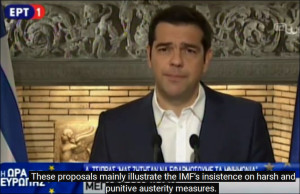 Speech of Alexis Tsipras June 26, 2015 rejecting EU austerity blackmail