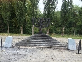 Desecration of Babi Yar Memorial in Kyiv on Sept 13, 2015 (photo on World Jewish News)