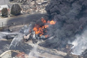 Lac Megantic oil train disaster, photo by Canadian Press