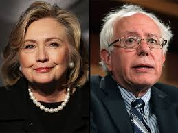 Hillary Clinton and Bernie Sanders, Democratic Party presidential candidates 2015-16
