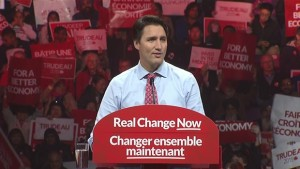 Justin Trudeau during 2015 election campaign (CBC image)
