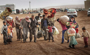 Refugees in Syria on the move