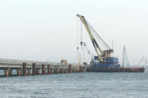 Bridge from Russia to Crimea under construction, Sept 2015 (SGM-Most photo)