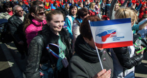 'Crimean Spring' rally in Simferopol in March 2015 marks one year of secession from Ukraine, photo by Evgeny Biyatov, Sputkik News