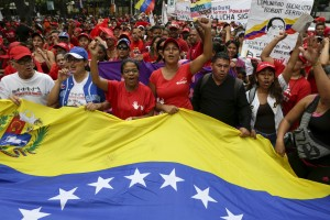 Supporters of Venezuela's socialist government rally on Nov 28, 2015 (Reuters)