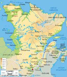 Carte du Quebec 2
