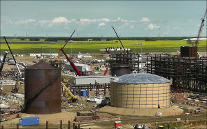 Section of the North West Redwater Partnership oil refining project under construction in Sturgeon, Alta, 45 km nw of Edmonton (image from NWRP website)