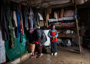Syrian refugees' shelter in Lebanon flooded by rains in March 2014 (UNHCR photo)