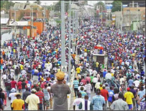 Tens of thousands march in Haiti Jan 22, 2016 against fraudulent elections