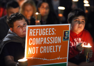 Vigil in Australia following the drowning of 3-year old Syrian Alan Kurdi in Mediterranean Sea on Sept 2, 2015 (Flikr Commons)