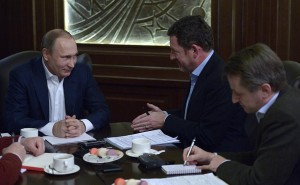 Vladimir Putin interviewed by German newspaper Bild on Jan 5, 2016 (photo from website of president of Russia)