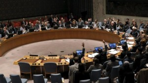United Nations Security Council votes unanimously on Feb 26, 2016 to approve Russia-U.S. resolution endorsing ceasefire in Syria