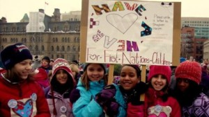 Ottawa, 2012. On Jan 26, 2016, the Canadian Human Rights Tribunal ruled that Canada discriminates against First Nation children on reserves by failing to provide equal child welfare services (photo on CBC,