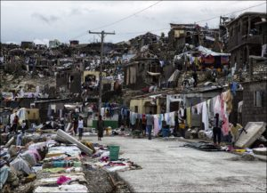 Jérémie, Haiti following the passing of Hurricane Matthew on Oct 4, 2016 (photo by UN agency)