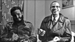 Fidel Castro and Malcolm X in New York City in 1960