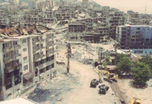 Kurdish city in eastern Turkey wrecked by Turkish army attacks (photo on Kurdish Question)