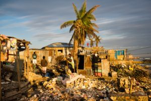 Sun rises on the rubble of homes in Jeremie, Haiti destroyed by Hurricane Matthew on Nov 4, 2016 (Sarah L. Voisin, The Washington Post)