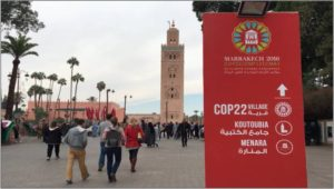 UN climate change talks in Marrakech, Morocco in November 2016
