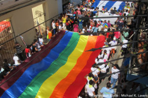 A march to commemorate the International Day Against Homophobia and Transphobia in Matanzas, Cuba, on May 17, 2016 (Washington Blade photo by Michael K. Lavers)