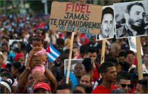 Mass rally commemorating the life of Fidel Castro in Santiago de Cuba on Dec 3, 2016. The following day, his ashes were interred in the city (Associated Press)