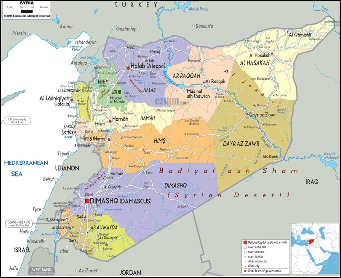 Political map of syria showing cities towns and provinces ezilon political map of syria showing cities towns and provinces ezilon maps gumiabroncs Image collections