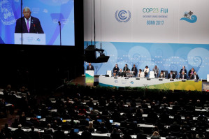 The climate summit conference in Bonn, Germany: More talking while global warming continues apace